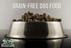 A dog plate full of grain-free food.