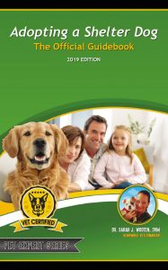 Cover of the book with a dog and a family inside a house
